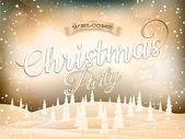 Christmas landscape Poster. EPS 10 — Stock Vector