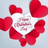 Valentines day abstract background. EPS 10 — Vector de stock