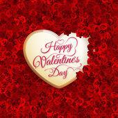Rose flower and heart. EPS 10 — Stock Vector