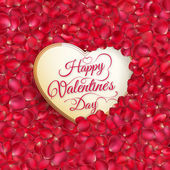 Rose petals heart. EPS 10 — Stock Vector