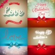 Valentine card set. EPS 10 — Stock Vector #60520983