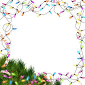 Christmas lights isolated on white. EPS 10 — Stock Vector