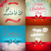 Valentine card set. EPS 10 — Stock Vector