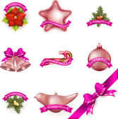 Set of Christmas attributes and toys. EPS 10 — Stock Vector