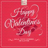 Happy Valentines Day - Lettering. EPS 10 — Vector de stock