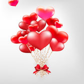 Elegant Valentines day heart balloons. EPS 10 — Vettoriale Stock