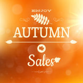 Autumn sale poster background. EPS 10 — Stock Vector