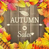 Höstens försäljning typografi affisch. Eps-10 — Stockvektor