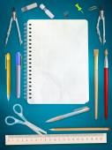 School office supplies. EPS 10 — Stockvector