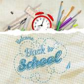 Welcome back to school. EPS 10 — Stock Vector