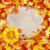 Colorful leaves background. EPS 10 — Stockvektor