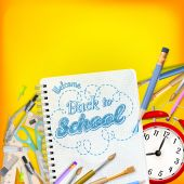 Back to School template concept. EPS 10 — Stock Vector