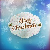 Merry Christmas greeting card. EPS 10 — Stock Vector