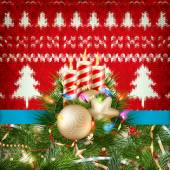Knitted Christmas background. EPS 10 — Stock Vector