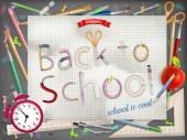 Bienvenue à l'école. Eps 10 — Vecteur