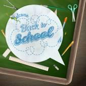 Back to school, concept still life. EPS 10 — Stock Vector