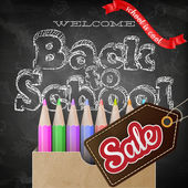 Back to school sale. EPS 10 — Stock Vector