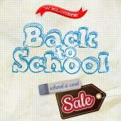 School verkoop Label kaart. Eps-10 — Stockvector