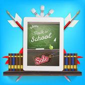 Back to school Sale. EPS 10 — Stock Vector