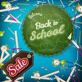 Plantilla de venta escolar. 10 Eps — Vector de stock