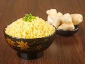 Japanese cuisine. ginger fried rice on the background — Stockfoto