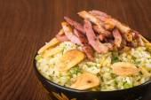 Japanese cuisine. ginger fried rice on the background — Stok fotoğraf