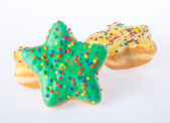 Star shape donut on background — Stock Photo