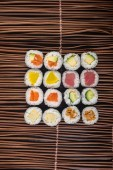 Japanese cuisine. sushi on the background — Foto de Stock