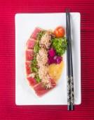 Japanese cuisine. sashimi on the background — Stockfoto