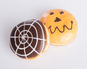 Donut. halloween donut on the background — Stock Photo