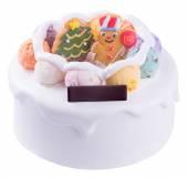 ケーキ。バック グラウンドでのアイス クリーム ケーキ — ストック写真