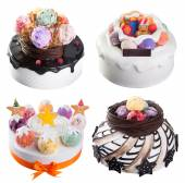 Cake. ice cream cakes collection on background — Stockfoto