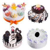 Cake. ice cream cakes collection on background — Stock fotografie