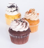 Cupcake. cup cake on the background — Stock Photo