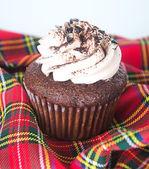 Cupcake. chocolate cupcakes on the background — Stock Photo