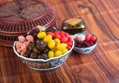 Haltbar Zitrusfrüchte. Chinesisch haltbar Zitrusfrüchte auf dem Hintergrund — Stockfoto