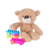Toy. toy bear on a background. toy bear on a background. — Stock Photo