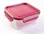 Food containers on the background. glass food containers on the — Stock Photo
