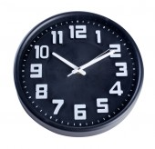 Clock or wall clock . wall clock on a background. — Stock Photo