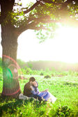 Couple in nature — Stock Photo