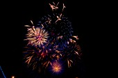 Beautiful firework display with the space for your text. — Stock Photo