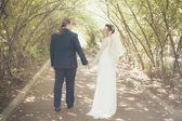 Novia y el novio en la boda ceramony — Foto de Stock