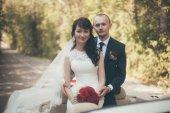 Romantic image of attractive couple — Stock Photo