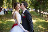 Bride and groom at wedding ceramony — Stock Photo