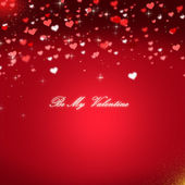 Red valentines day background — Stock Photo