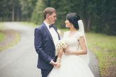 Newlyweds on Wedding Day — Stock Photo