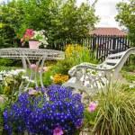 花园、 浪漫、 田园、 弹簧 — 图库照片 #52487751