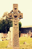 Old celtic cross — Stock Photo