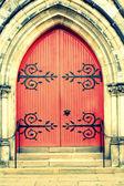 Old wooden Church Door — Stock Photo