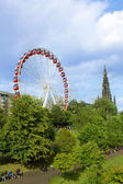Big wheel in Edinburgh, during summer 2014 — 图库照片